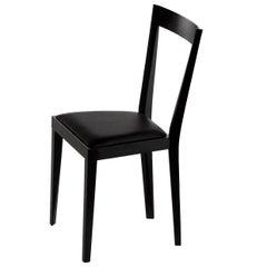 Livia Black Chair by Gio Ponti