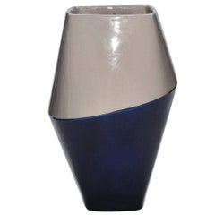 Anfora Vase Gray and Blue