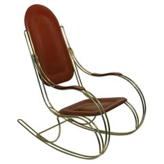 Italian Brass Rocker and Leather