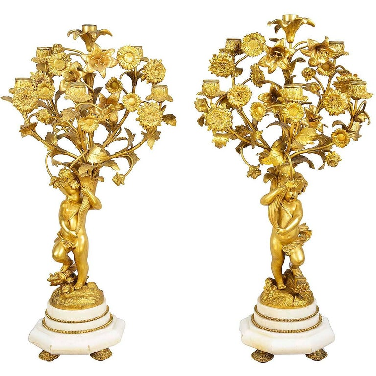 Louis XVI Style Candelabra, 19th Century For Sale