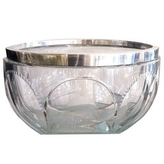 Large Kirby Beard and Co. Crystal Salad Bowl