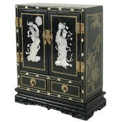 Oriental Jewelry Box with Mother-of-Pearl Inlay