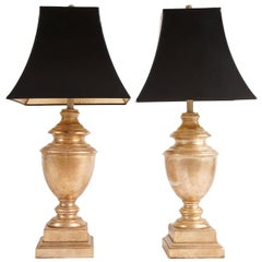 Two Gilded Baker, Knapp & Tubbs Table Lamps, circa 1960s