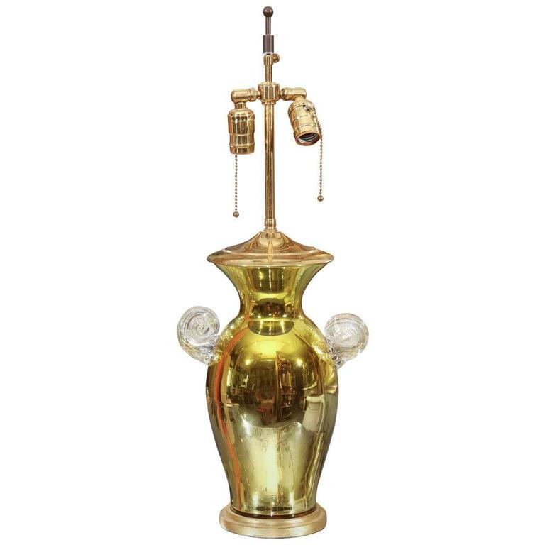 Acid Green Mercury Glass Lamp