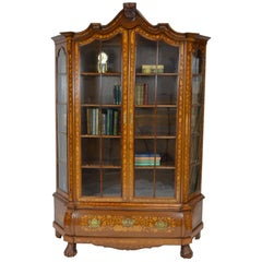 Antique Display Cabinet with Dutch Marquetry