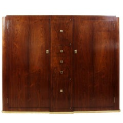 Art Deco Slim Rosewood Hall Cabinet