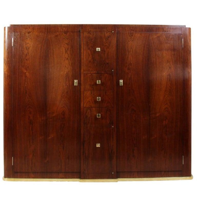 Art Deco Slim Rosewood Hall Cabinet