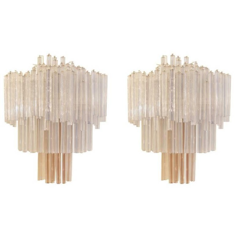Pair of Sconces Edited by Venini