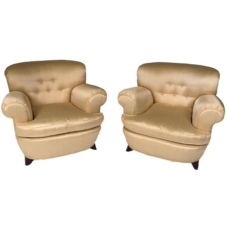 Classic Art Deco Club Chairs For Sale