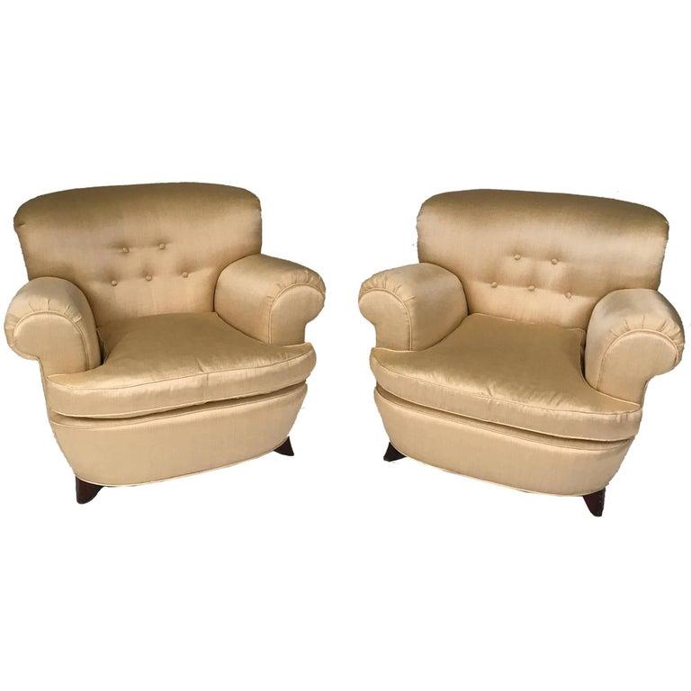 Classic Art Deco Club Chairs