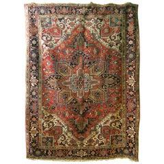 Antique Persian Heriz Carpet, 1920