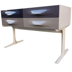 Raymond Loewy Free Standing Low Two-Sided Cabinet DF2000