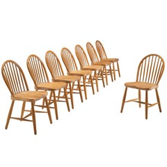 Frits Henningsen Set of Eight Windsor Chairs