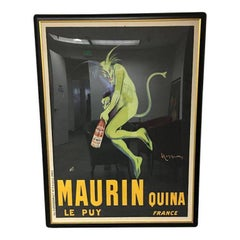 Maurin Quina Le Puy France Vintage Framed French Poster