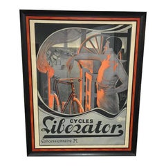 Liberator Cycles Concessionaire Poster Lithograph