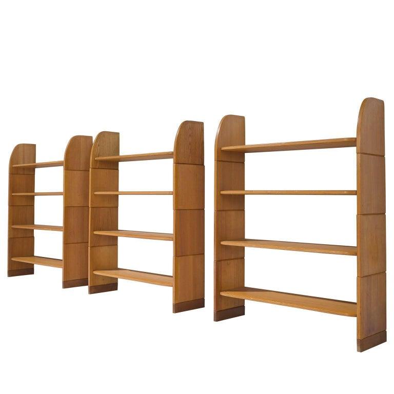 set of three milani solid pine bookshelves - Pine Bookshelves