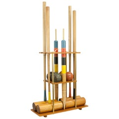 F.H. Ayres Croquet Set on Stand