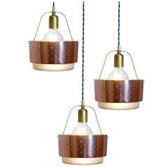 Midcentury Waffle Glass Lamp