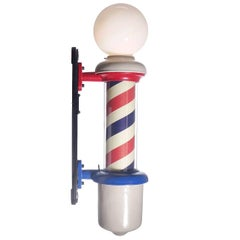 Antique Koken Barber Pole, Restored