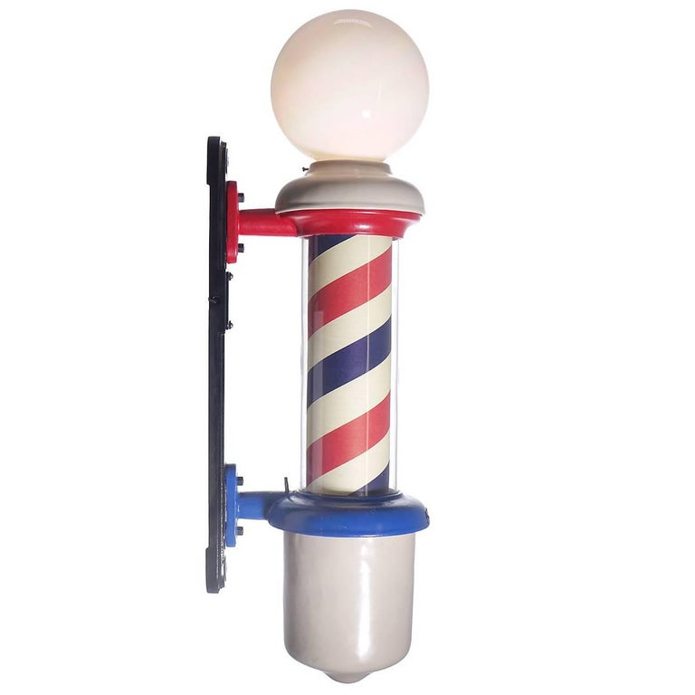 Antique Koken Barber Pole, Restored at 1stdibs