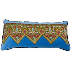 Mid-1880s Fleur-de-Lis Needlepoint Decorative Pillow