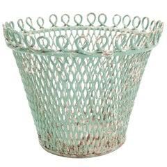 Midcentury French Wirework Planter or Wastepaper Basket by Mathieu Matégot