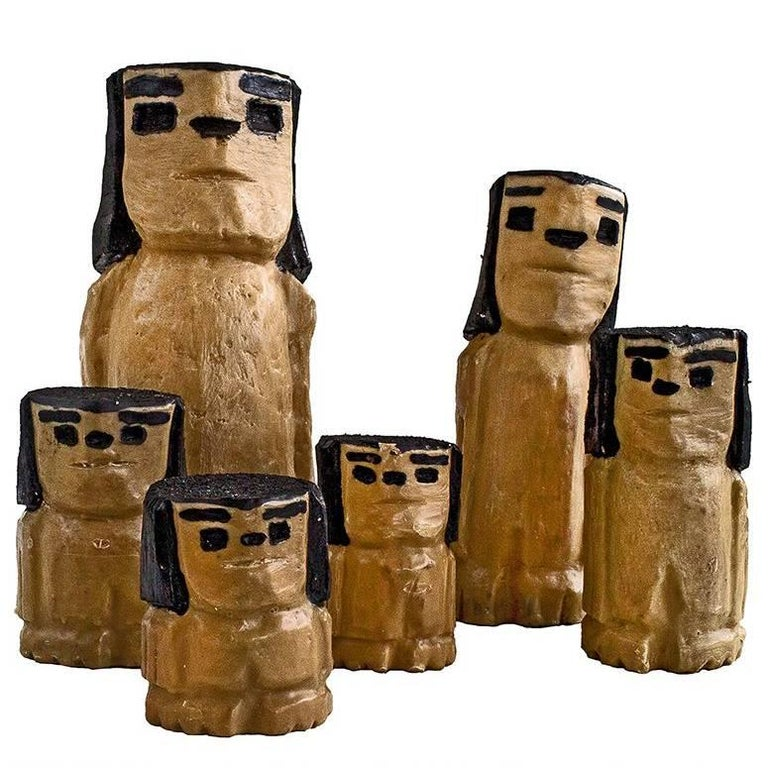 Brazilian Wax and Wood Sculpture Bugres Collection