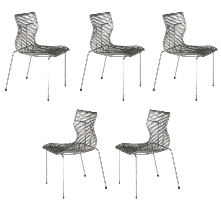 Niall O'Flynn 't Spectrum Five Rascal Chairs 1997 Galvanized Metal For Sale