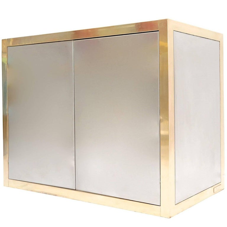 Brass and Silver Cabinet by Axel Vervoordt