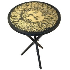 "Fornasetti Side Table with ""Sun"" Motif, Italy, 1960s"