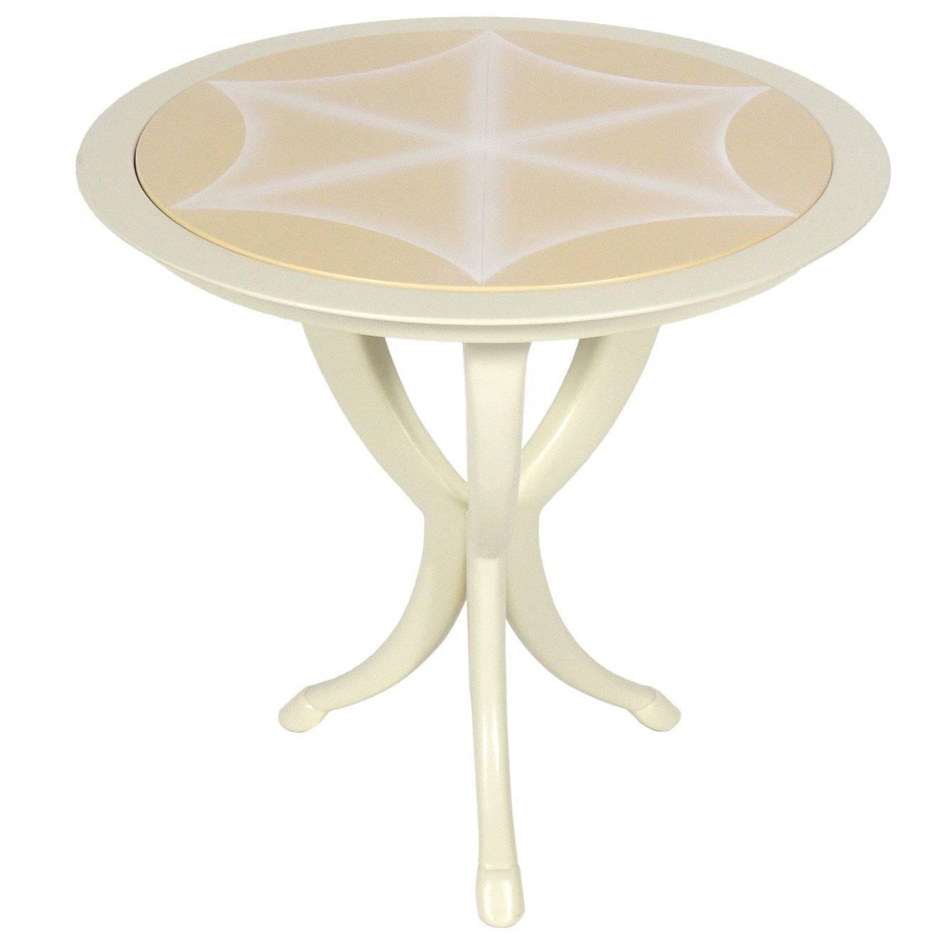 Glamorous White Lacquer Table by Roger Thomas for Ferrell & Mittman