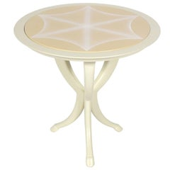 Glamorous White Lacquer Table by Roger Thomas for Ferrell & Mittman