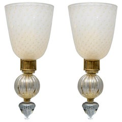 Pair of Huge Sconces in the Style of Cenedese