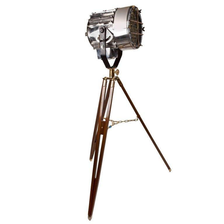 Steel And Brass Nautical Signal Light Mid Century Modern