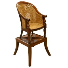 William IV Childs Mahogany Bergere High Chair