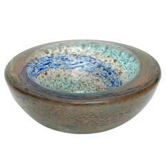 Aureliano Toso Handblown Murano Glass Bowl