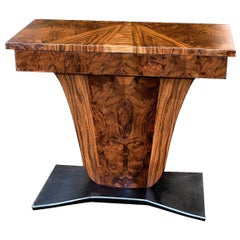 1930s Art Deco Walnut Console /Hall Table