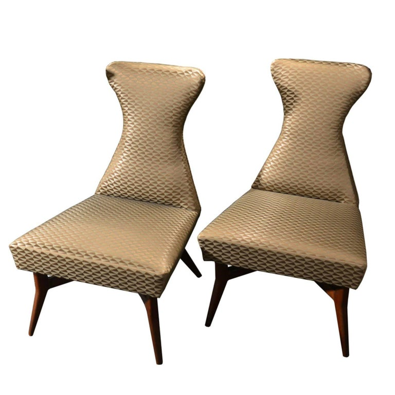 Pair of Armchairs Attributed to Melchiorre Bega, Italy, 1950s