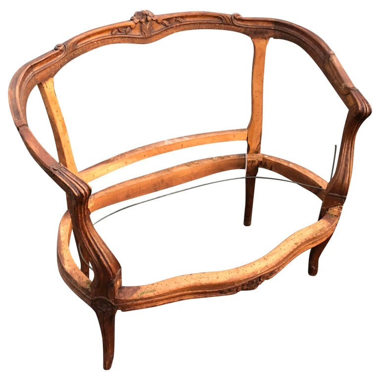 French Rococo Two-Seat Settee Frame