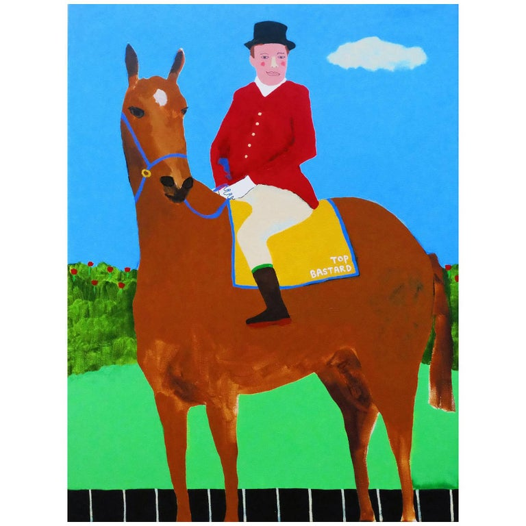 'Leader of the Pack' Portrait Painting by Alan Fears Pop Art Horse For Sale