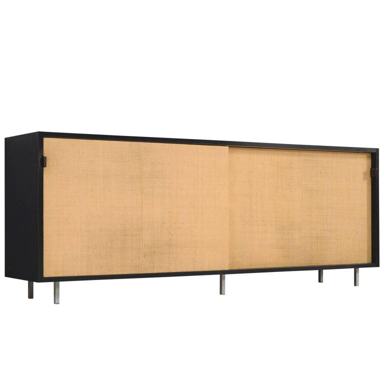Early Florence Knoll Seagrass Credenza for Knoll
