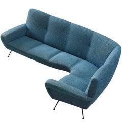 Italian Corner Sofa by ISA, 1950s