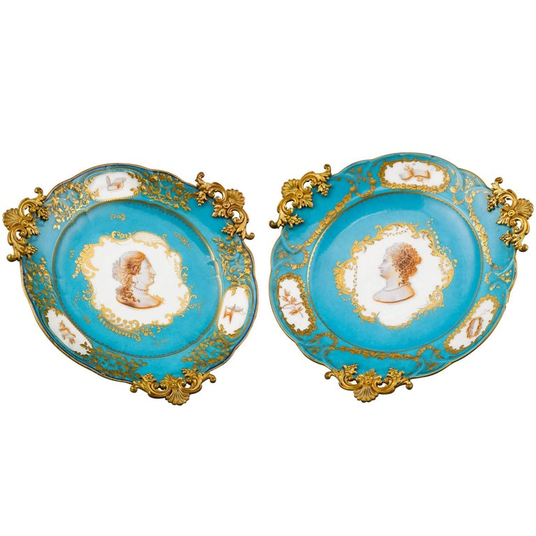 Sèvres Porcelain and Ormolu Compotes For Sale
