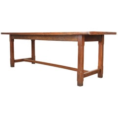 English Early 18th Century Oak Farmhouse Dining Table