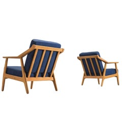 Solid Oak Danish Midcentury Armchairs