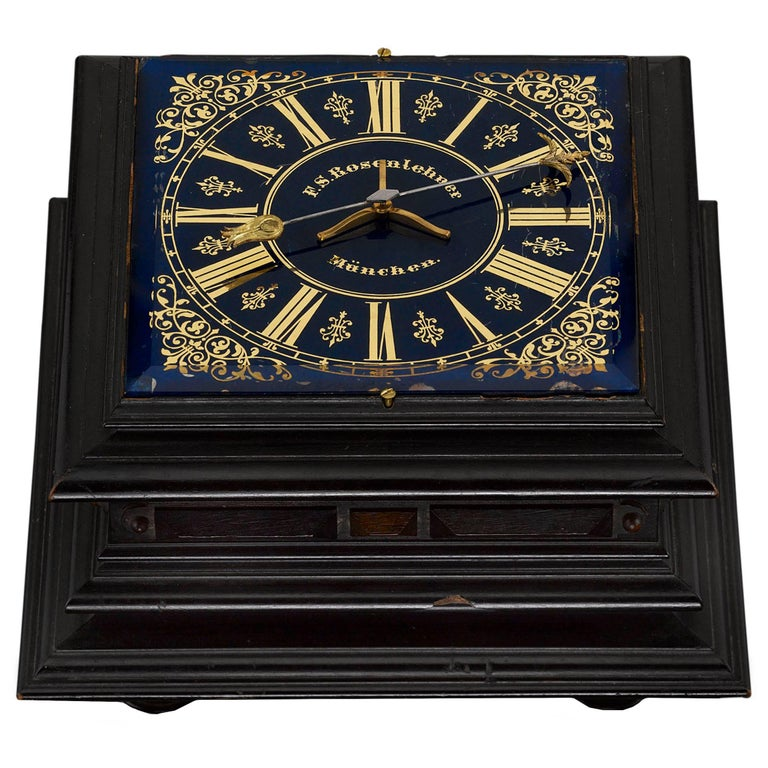 German Horizontal Table Clock For Sale