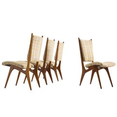 Vladimir Kagan for Dreyfuss Dining Chairs in Walnut