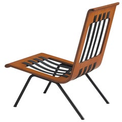 Franco Campo and Carlo Graffi Lounge Chair in Bent Teak