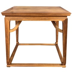 Michael Taylor for Baker Furniture Chinoiserie Walnut Side Table