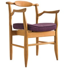 Guillerme & Chambron Blond Oak 'Fumay' Armchair